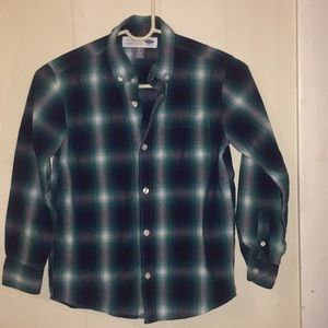 Old navy Boys size 8 plaid button down shirt